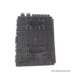 Image 3 - Boîtier de terminaison à fibers optiques 16 cœurs boîtier de distribution de fibers optiques 16 ports boîtier de répartiteur de boîtes à fibers optiques 2X16 cœurs FTTX noir