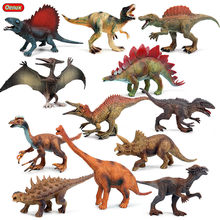 Oenux-figuras de acción de dinosaurio jurásico, figuritas de juguete de PVC, modelo de pterosauro, Saichania, mundo de dinosaurios, parque, Spinosaurus