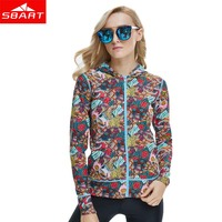 SBART New Womens Long Sleeve Rashguard Swim Shirts Lycra Surf Tops Rash Guard Women Hooded Beach Sports UV Protection Swimwear L