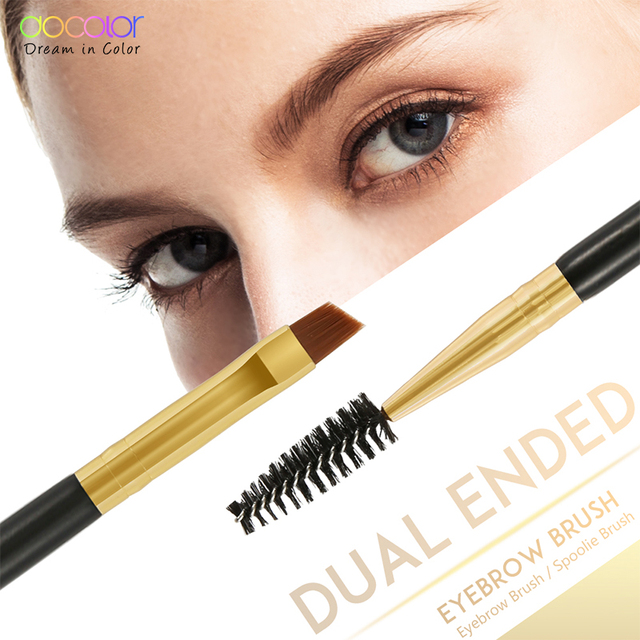 Docolor New Eyebrow Brush Makeup Brush Eyebrow Brush Eyebrow Comb Double Ended Brushes Beauty blending eye pinceaux maquillage 2