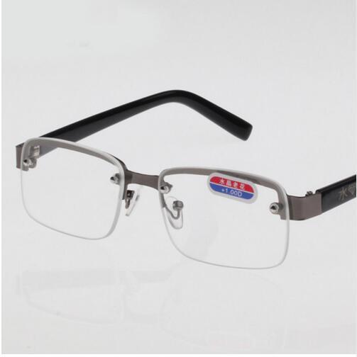 Новое поступление, высокое качество, сплав, коричневые линзы, очки для чтения, прозрачный кристалл, очки для чтения, очки, лупа, Oculos gafas B2 - Цвет оправы: Clear