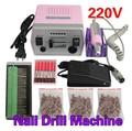 30000 RPM Eléctrica Uñas de Arte Máquina Acristalamiento Drill Pro Salon Manicure Pedicure Kit Conjunto De Herramientas de Alta Calidad