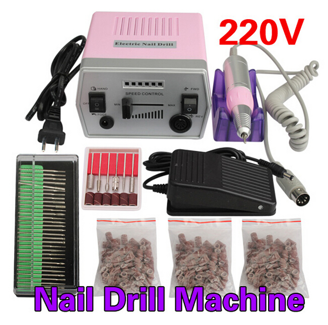 30000 RPM Electric Nail Art Pro Salon Drill Manicure Pedicure Machine Glazing Tool Kit Set High Quality pro false nails machine gel varnish 35000rpm electric nail machine manicure kit salon