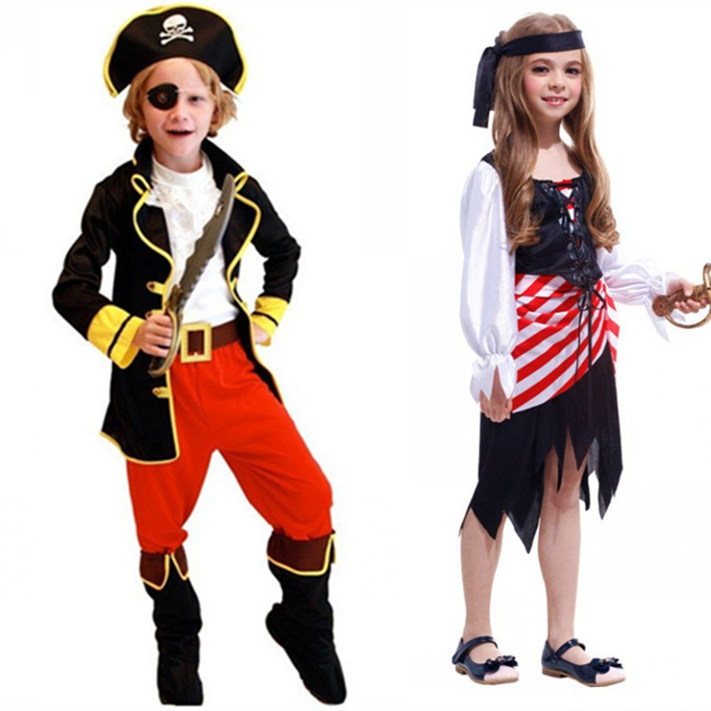 Halloween Pirates Of The Caribbean Costume Boys Kids Pirate Cosplay Costumes For Kids Party Dress