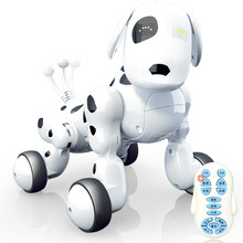 2019 new remote control intelligent robot dog child educational learning toy with english song singing dancing playing best gif(China)