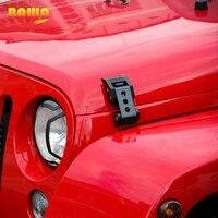 BAWA Engine Bonnets Hood Lock For Jeep Wrangler JK 2007 2017 Aluminum Stainless Steel Hood Lock For Jeep Wrangler Car Hood Locks