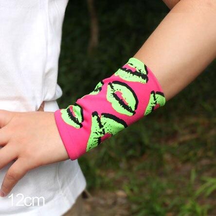 Sommer stil frauen dame mode-Plaid Streifen Tattoo arm hülsen-abdeckung narben fingerlose lichtschutzhandschuhe Handgelenk elbow sleeve