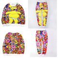 2016 new womenmen 3D print Simpson Duff/Cartoon Characters cute track suit tracksuits full sleeve spring sportwear free shipping
