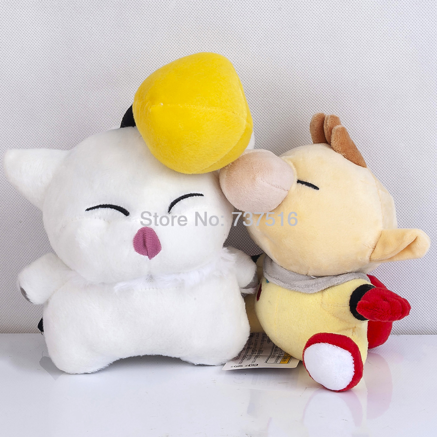 New Final Fantasy Mascot Moogle 7 & Protagonist Little Buddy Captain Olimar 6.5 Plush Doll Stuffed Toys Set Of 2Pcs US Ship