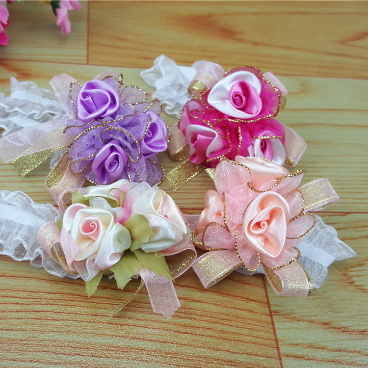wedding flowers cheap korean bridal wrist flower flower prom 9559