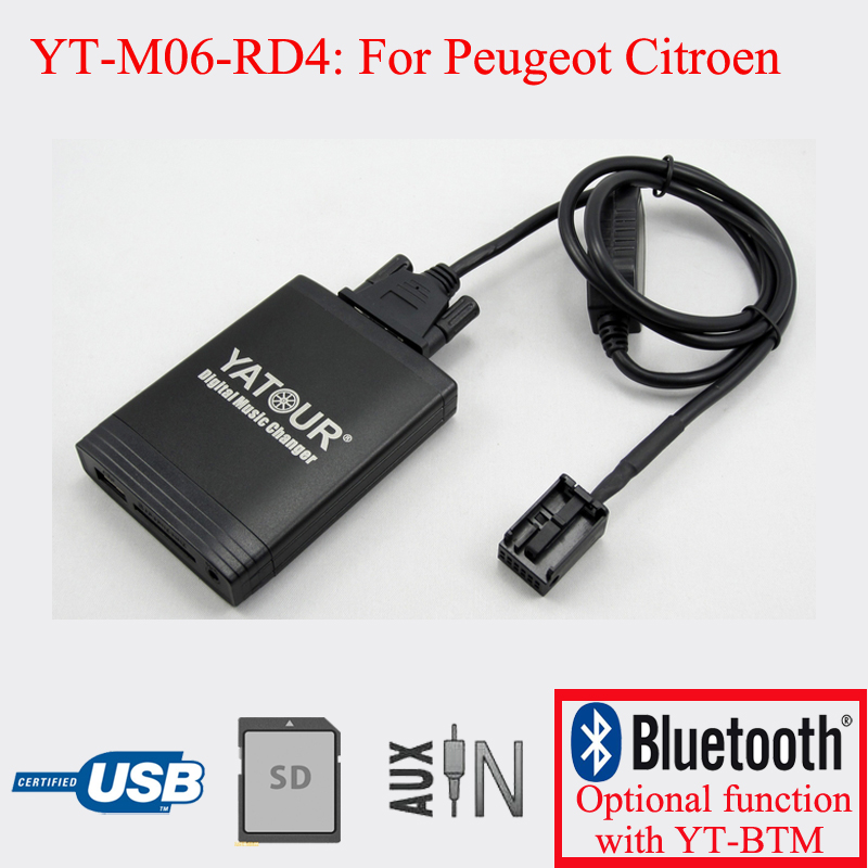 <font><b>Car</b></font> radios <font><b>player</b></font> for Peugeot Citroen RD4 <font><b>USB</b></font> SD AUX <font><b>MP3</b></font> Kit image