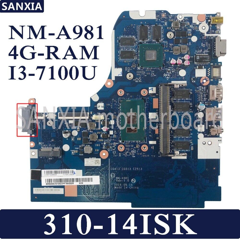KEFU CG431 CG513 CZ513 NM-A981 scheda madre Del Computer Portatile per Lenovo 310-14ISK Prova mainboard originale 4G-RAM I3-7100U GT920MXKEFU CG431 CG513 CZ513 NM-A981 scheda madre Del Computer Portatile per Lenovo 310-14ISK Prova mainboard originale 4G-RAM I3-7100U GT920MX