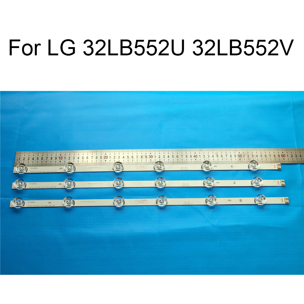 Brand New LED Backlight Strip For LG 32LB552U 32LB552V 32 LCD TV Repair LED Backlight Strips Bars A B Strip With Thermal Tape