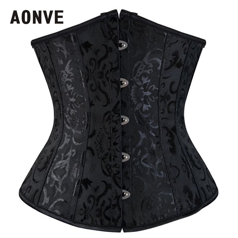 AONVE Corsets And Bustiers Underbust Steampunk Slimming Sheath Bodice Waist Trainer Corset Cincher <font><b>Sexy</b></font> Lingerie Plus Size <font><b>6XL</b></font> image