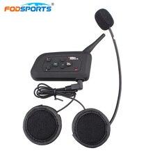 Fodsports шлем домофон мотоцикл система внутренней связи для шлема гарнитуры Bluetooth 3,0 беспроводной интерком 4 всадников говорить громкой связи радио