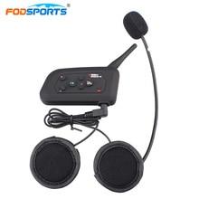 Fodsports V4 домофон шлем гарнитуры Bluetooth 3,0 Беспроводной домофон 4 всадников говорить громкой связи Max 1200 м с FM радио