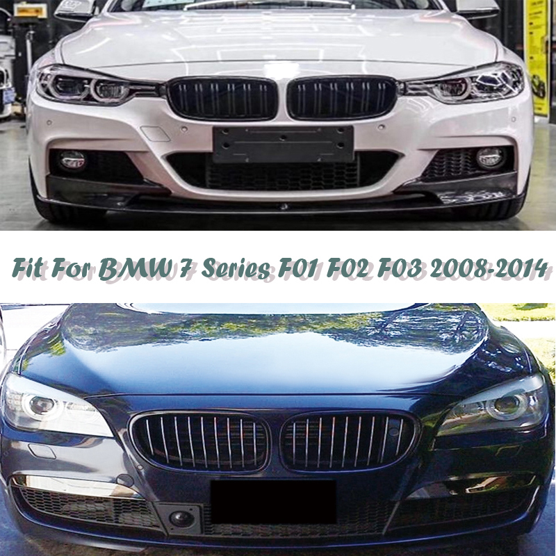 Chrome Front Kidney Grills Set for BMW 7-Series F01 F02 F03 F04 760i 750i 740i