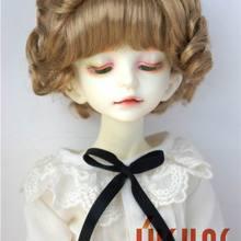 JD250B 1/4 Мода BJD мягкий синтетический мохеровый парик MSD детский короткий курчавый BJD парики Размер 7-8 дюймов кукла аксессуары