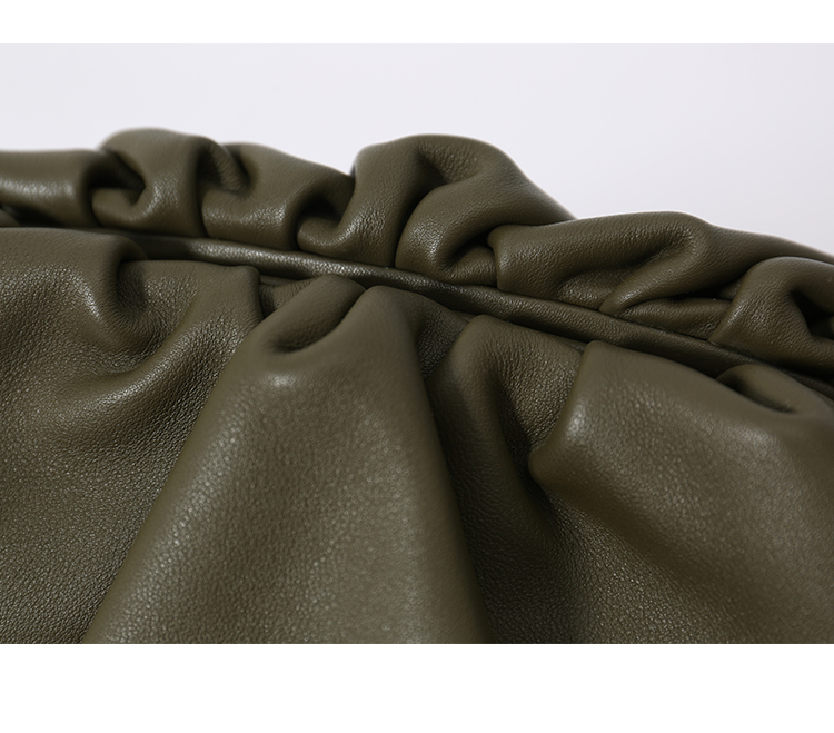 La pochette sac jour pochette fête enveloppe sac à main femmes grand grand ruché oreiller sac cuir sac à main été sac blanc noir vert - 5