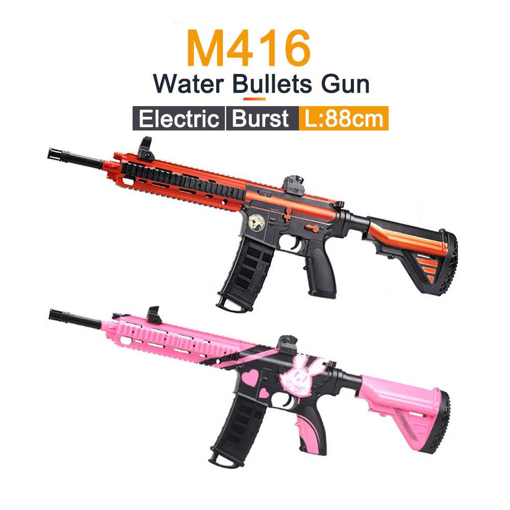 Игрушки для улицы, пластиковый пистолет M416, Электрический взрыв, мягкие водяные пули, Воздушный пистолет, гелевый шар, пистолет, снайперская игрушка для мальчиков, подарки на день рождения