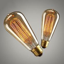 LumiParty E27 Edison Light Bulb Retro Yellow Light W-filament Bulb Coffee House Decor Industrial Style Lamp10W 220-240V