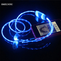 Light Up Stereo LED Earphone Sport Earpiece Glowing Cable Headset With Mic Music Beats Volume For