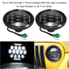 KKMOON Pair Of 75W LED Light 7 Round Headlight With DRL High Low Beams For Jeep