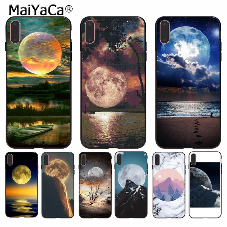 Cellphones & Telecommunications Glorious Maiyaca Moon And Mountains Classic High-end Phone Accessories Case For Iphone 8 7 6 6s Plus 5 5s Se Xr X Xs Max Coque Shell Crease-Resistance Phone Bags & Cases