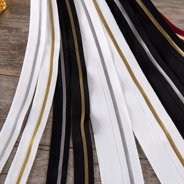 PPCrafts Hohe Qualität 10 20 40mm Gold Silber Flache Elastische Band ...