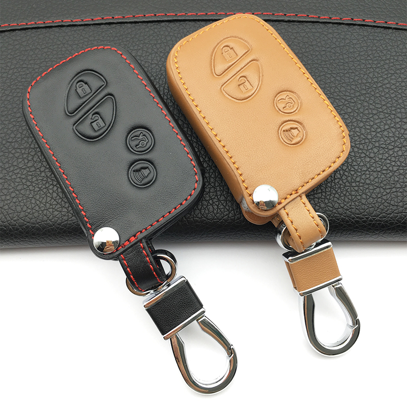 2018 Toyota Rav4 Head Gasket: Genuine Leather Key Chain Remote Control Car Key Cover For