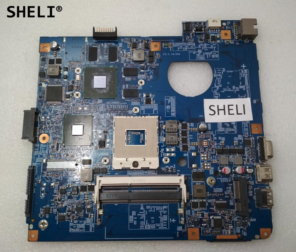 SHELI For Acer 4741 4741G Motherboard with N11P-GE1-A3 Video Card 48.4GY02.031 direct heating n11p ge1 a3 n11p ge1 w a3 n11p ge1 w a2 stencil