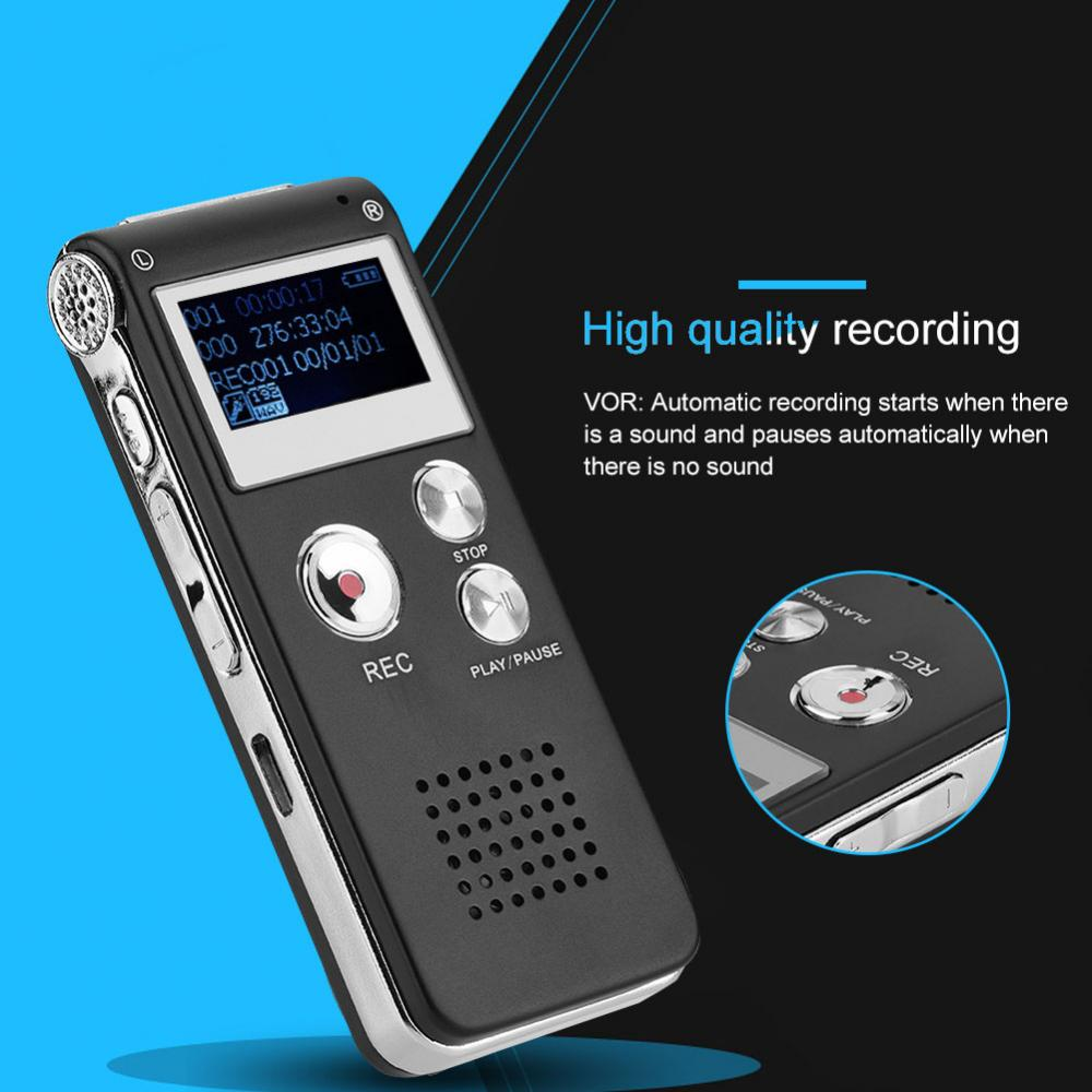 Unterhaltungselektronik Sinnvoll Professionelle Tragbare Mini Vm85 8g Lcd Digital High Definition Voice Recorder Audio Aufnahme Stift Bequem Zu Kochen