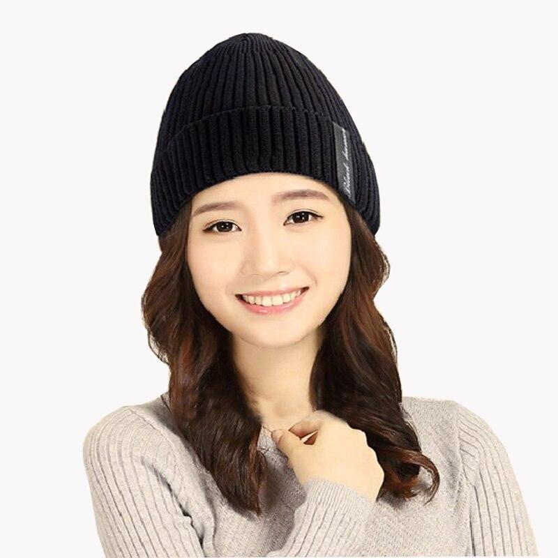 Wool velvet knitted  Winter hat Male Outdoor ski Beanies for men skullies beanies