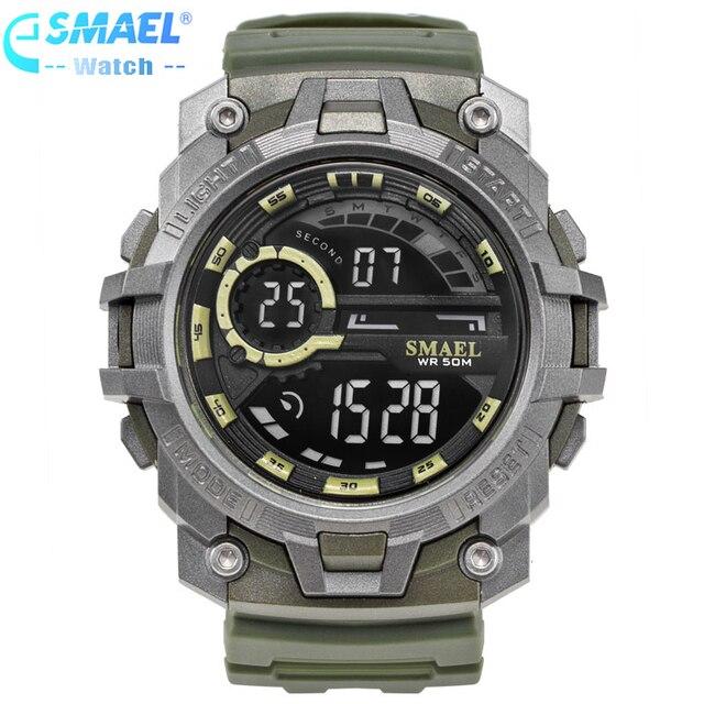 SMAEL Brand Men's Fashion Sport Watches Chrono Countdown Men Waterproof Digital Watch Men Military Clock Man Relogio Masculino