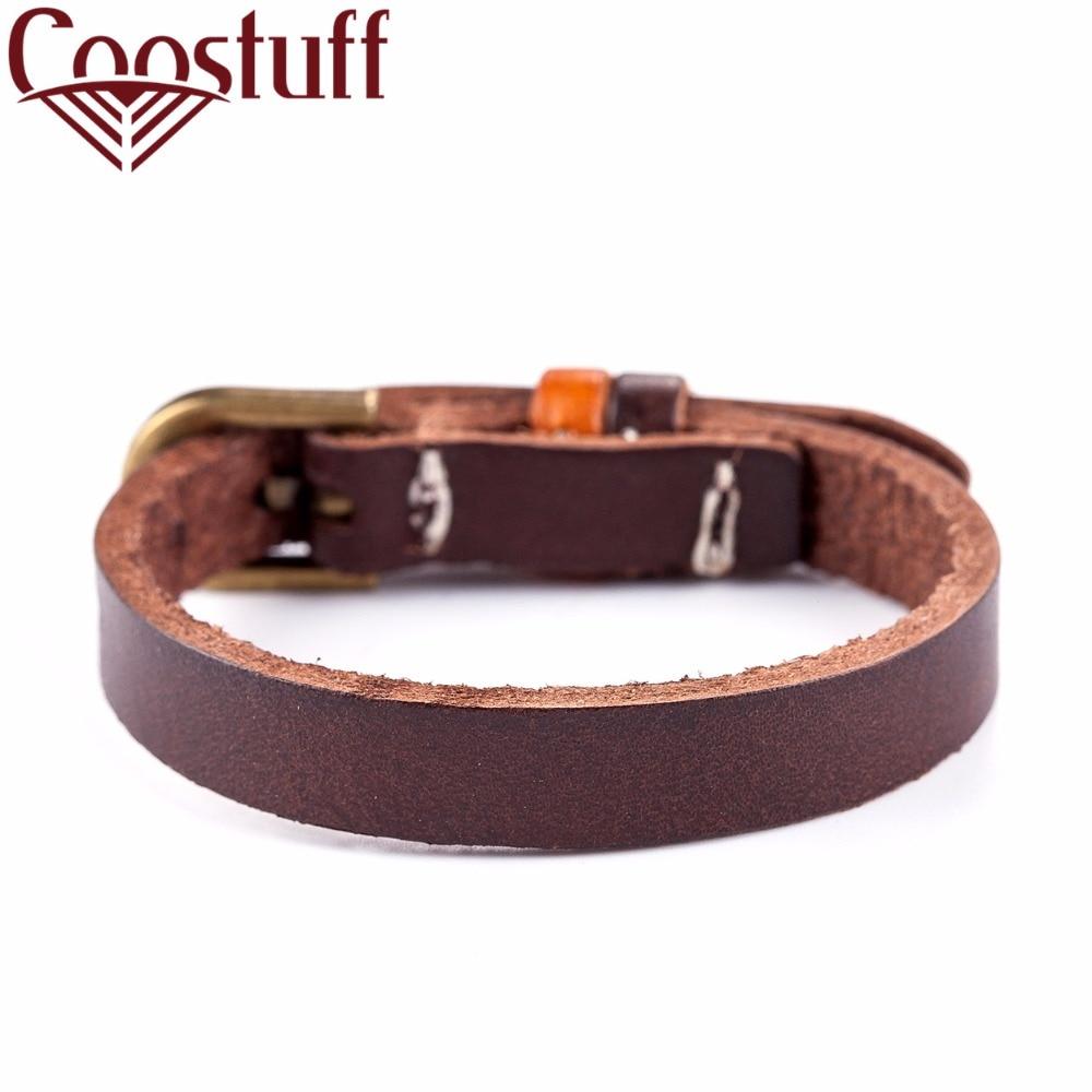 2017 nye mænd armbånd til kvinder vintage smykker ægte læder armbånd pulseira feminina armbånd & armbånd, armbånd mænd