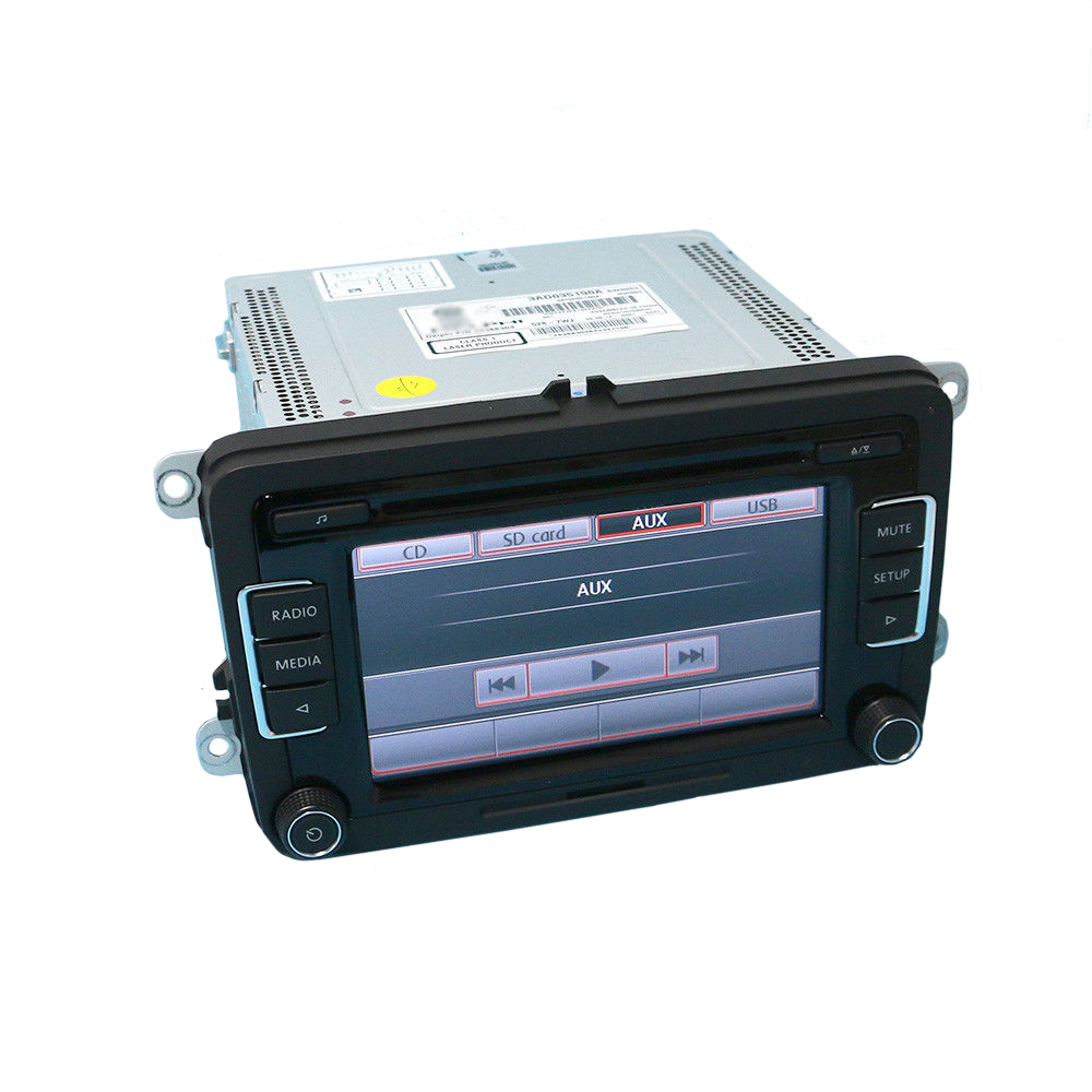 US $115 54 12% OFF|OEM Car Radio RCD510 FM CD MP3 Player AUX USB/ CODE No  Rear View For VW Golf Passat CC Tiguan Polo-in Fascias from Automobiles &