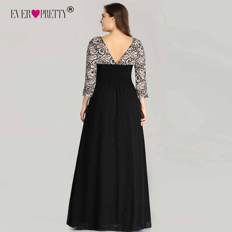 c5031909f88 ... Ever Pretty Большие размеры Вечерние платья Длинные 2018 кружево с  длинным рукавом шифон мать невесты платье ...