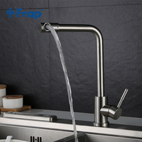 Frap 1 Set Flexible Kitchen Faucet Single Handle Tap Single Hole Handle Swivel 360 Degree Water