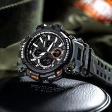 Męskie zegarki 2018 SMAEL Top marka luksusowy zegarek mężczyźni G styl wojskowy armia S Shock Sport Wrist Watch LED analogowy zegar cyfrowy Saat