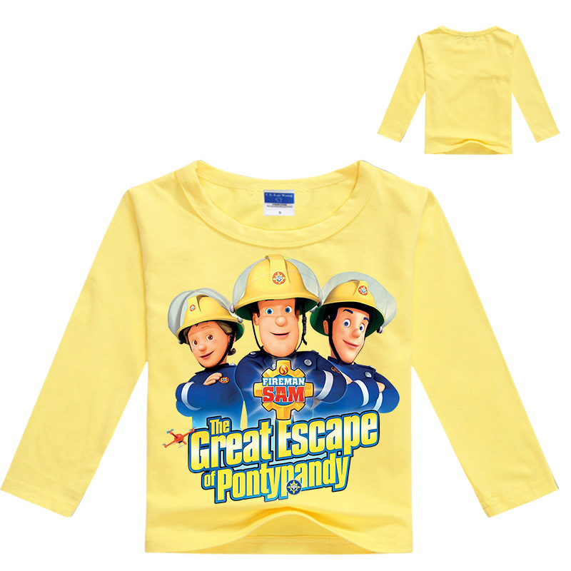 T-Shirts, Tops & Shirts Clothes, Shoes & Accessories Fireman Sam Boys Girls Hooded Tops T-shirt Kids Hoodie Cartoon Clothes Age 2-10Y