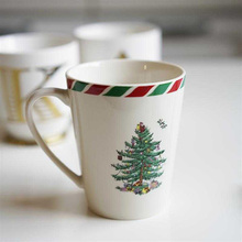 Christmas Tree Ceramic Coffee Mugs Breakfast Milk Nordic Style Capacity 400ml Tea Water Drinking Cups For Gift