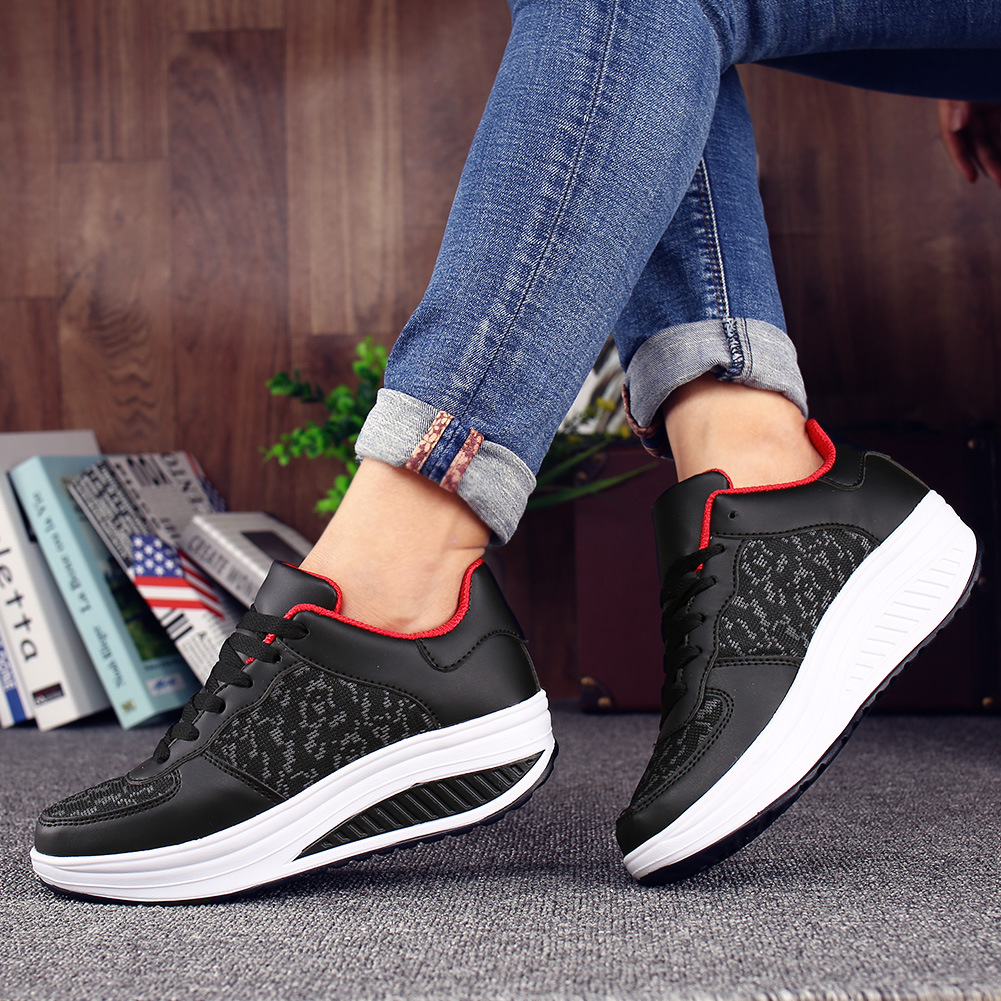 Cuir royal Gray black White black Casual Chaussures Blue Sneakers black Plein Feminino Plate Noir Rose dark Coins Tenis Femmes 2018 Dames En forme white khaki Red lake Blue Air black 2 Red Blanc Blue Coréen Été Pink 1 silver wUHx4Uqzp