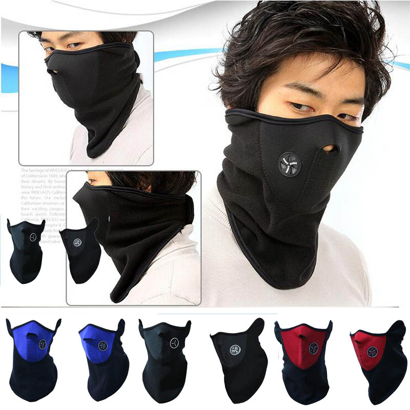 2018 New warm Windproof protective face mask CS head scarf hat cold winter wind electric motorcycle riding mask black red blue