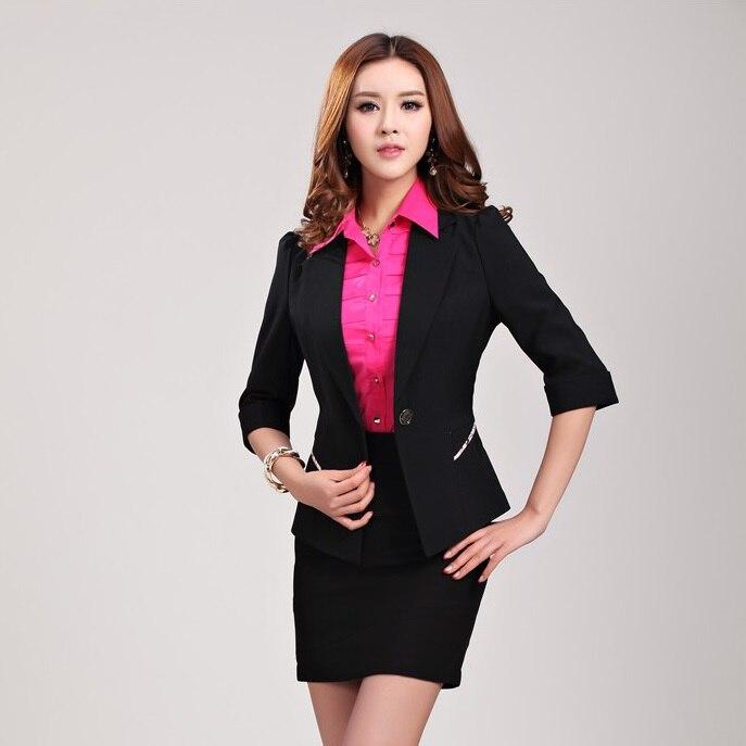 Las Formal Skirt Suits With Jacketini Elegant