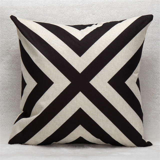 Vintage Geometric Cotton Linen Pillow case cover Living Room Bed Chair Seat Waist Throw pillow cover Decorative Pillowcases