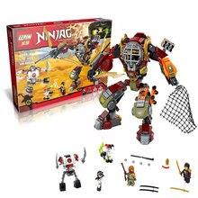 478Pcs LEPIN 06035 Ninja Salvage M.E.C.Ronin Krazi Frakjaw Model Building Kit Minifigure Blocks Brick Toy Compatible with 70592