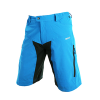 LOCLE Durable MTB Downhill Shorts Men Mountain Bike Bicycle Cycling Shorts Half Trousers Cycling Clothing Size