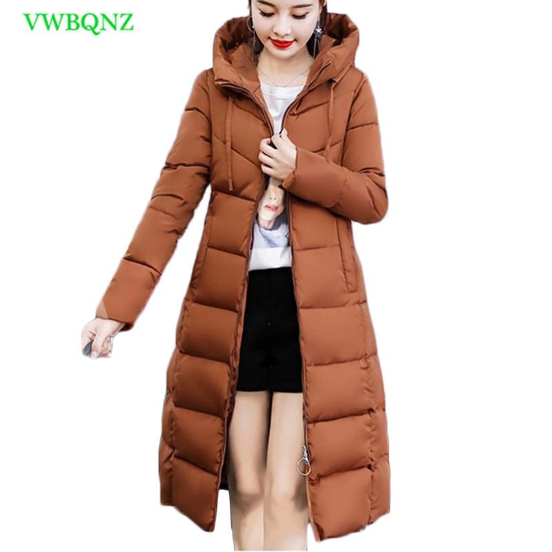 Fashion Winter Jacket Women Thick Warm Female Jacket Cotton Coat   Parkas   Long inverno Women Hooded Plus size outerwear 3XL A868