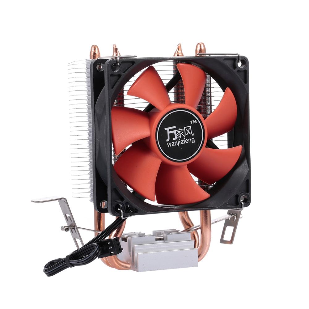 Aluminum Silent Fan Heatsink cooler water cooling radiator pc cpu For Intel//AMD