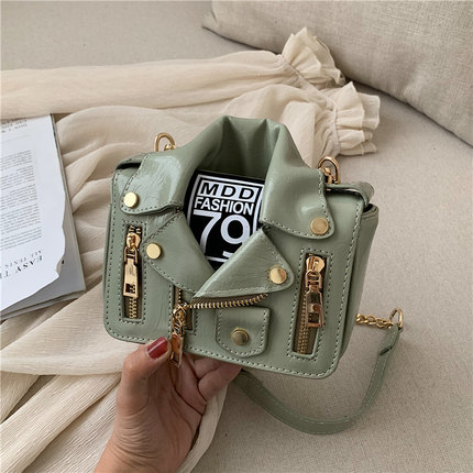 Bag Motorcycle-Bag One-Shoulder Female Fashion Slung College New-Texture Personality